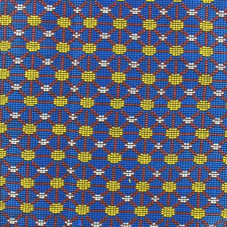Quilted aspect weaved Dakar - azure x 10cm