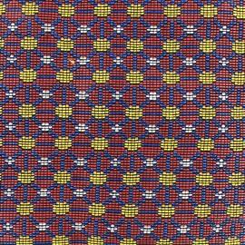 Woven jacquard canvas Dakar - red x 10cm