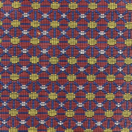 Quilted aspect weaved Dakar - red x 10cm