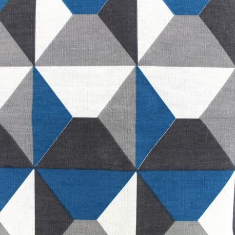 Cotton canvas fabric Bachette Geometrik - duck x 18cm