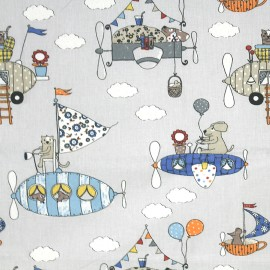 Cretonne cotton Fabric Gulliver - sand x 31cm