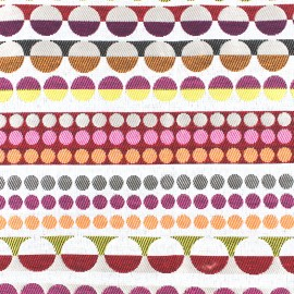 ♥ Coupon 300 cm X 150 cm ♥  aspect weaved groove rayure - coral