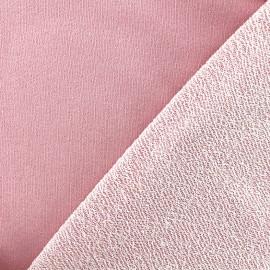 Jogging fabric Pailleté - pink x 10cm