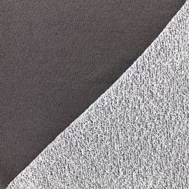 Jogging fabric Pailleté - anthracite x 10cm