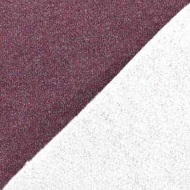 Jogging fabric Molletonné Pailleté - garnet x 10cm