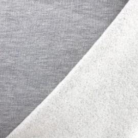 Jogging fabric Molletonné Pailleté - pearl grey x 10cm