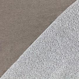 Tissu jogging Pailleté - taupe x 10cm
