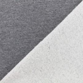 Jogging fabric Molletonné Pailleté - grey x 10cm