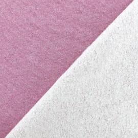 Jogging fabric Molletonné Pailleté - pink x 10cm