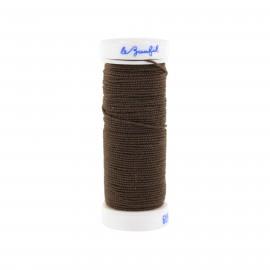 fil élastique pour fronces marron foncé
