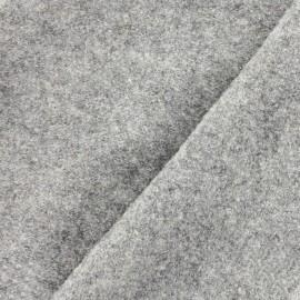 Boiled wool - mocked light grey x 10cm