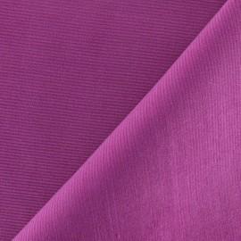 Tissu velours milleraies 200gr/ml - violine x10cm