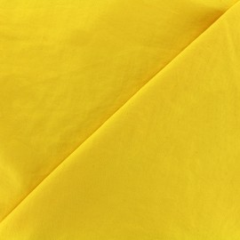 Tissu déperlant souple - jaune x 10cm