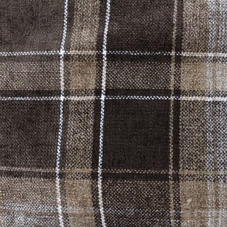 Velvet fabric Glasgow - chocolate x 10cm