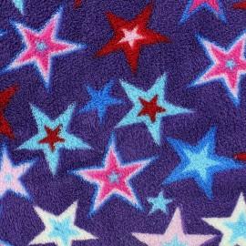 Tissu Doudou Magic stars - violet x 10cm