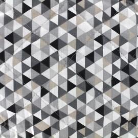 Tissu matelassé Trimix réversible - gris/noir x 10cm