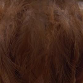 Galon Plume effet nacré 10cm - marron foncé x 50cm