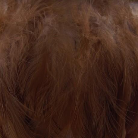 Pearly effect Feather braid  10/15 cm - dark brown x 50cm