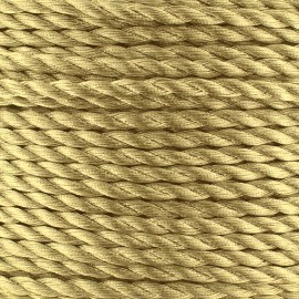 Metallic twisted Cord 2mm - golden x 1m