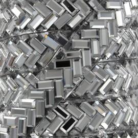 Ruban Chevron strass thermocollant - acier x 50cm