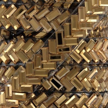 Ribbon Glitter strass - copper x 50cm