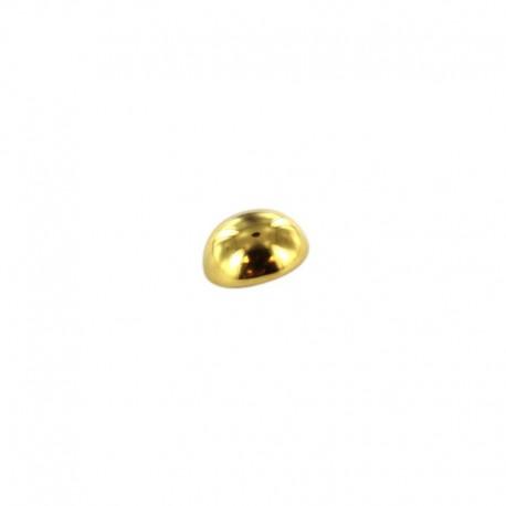 Bouton métal boule - vieux doré