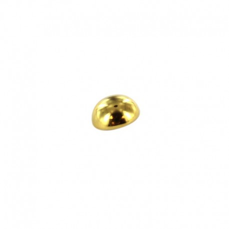 Metal button boule - old gold
