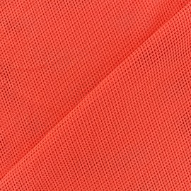 Polyester fishnet fabric - orange x 10cm