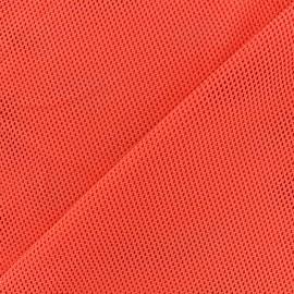 Tissu polyester résille - orange x 10 cm