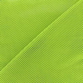 Tissu polyester résille - vert clair x 10 cm