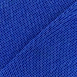 Tissu polyester résille - navy x 10 cm