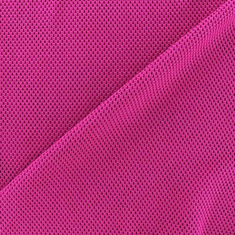 Tissu polyester résille - violine x 10 cm