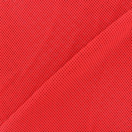Jersey fishnet fabric - red x 10cm