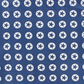 Tissu coton Super Stars - bleu marine x 10cm
