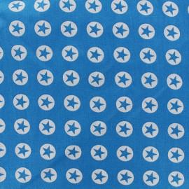 Tissu coton Super Stars - bleu azur x 10cm