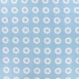 Tissu coton Super Stars - bleu clair x 10cm