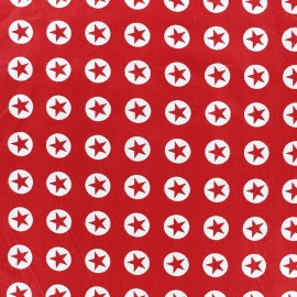 Tissu coton Super Stars - rouge x 10cm