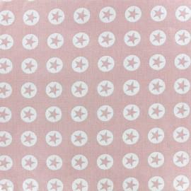 Tissu coton Super Stars - rose clair x 10cm