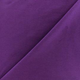 Tissu jersey uni - violet x 10cm