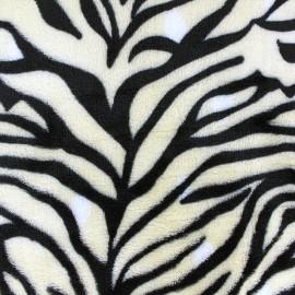 Tissu Doudou Savane - zèbre écru x 10cm
