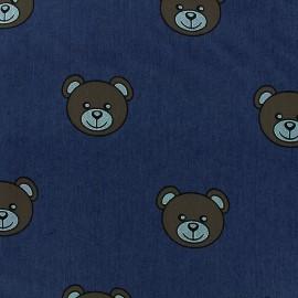 Tissu jeans Teddy Bear - dark x 31cm