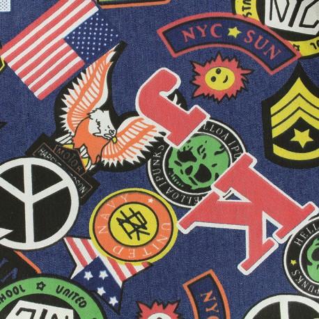 Jeans fabric New York - dark x 61cm