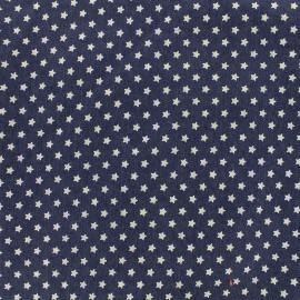 Tissu jeans White stars - dark x 10cm