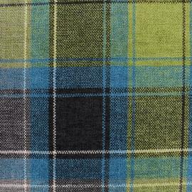 Tissu Velours Glasgow - bleu x 10cm