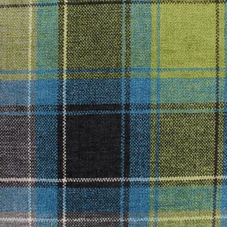 Tissu Velours Glasgow - bleu x 10cm en cours