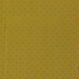 Tissu crépon à pois France Duval - gris x 10cm