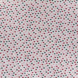 Tissu Poppy Little one Coeurs multi - rouge/gris x 10cm