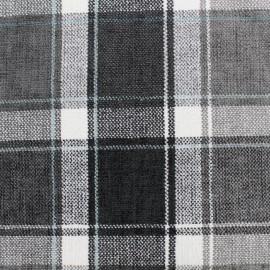 Velvet fabric Glasgow - grey x 10cm