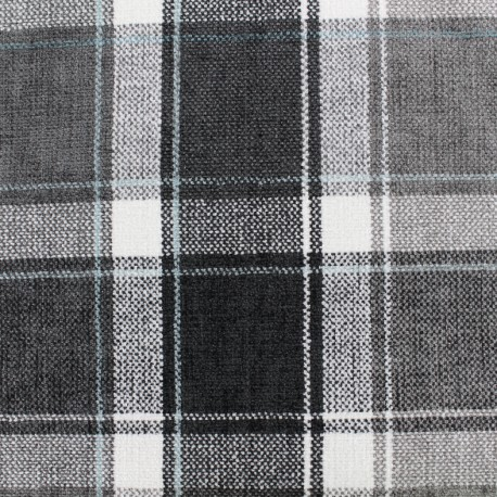 Velvet fabric Glasgow - grey x 10cm