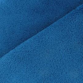 Tissu Doudou uni bleu x 10cm